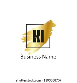 Initial Letter KI Logo Template Design
