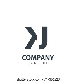 Initial Letter KJ Design Logo