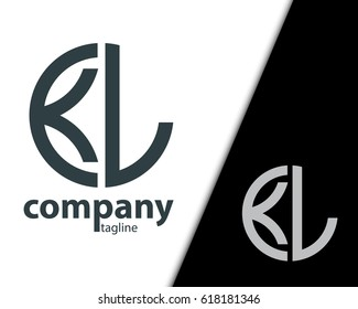 Initial Letter KL With Linked Circle Logo
