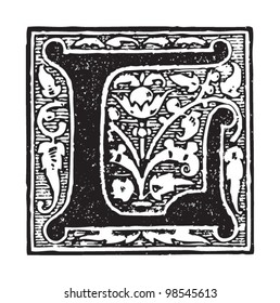 Initial - letter L / vintage illustrations from Die Frau als Hausarztin 1911