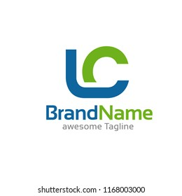 initial letter lc logo vector concept element