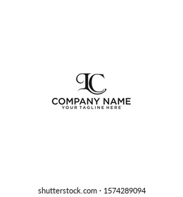 initial letter lc logo vector concept