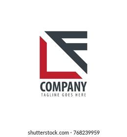 Initial Letter LF Design Logo