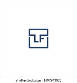 Initial letter lf or fl logo vector design