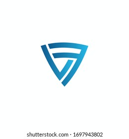 Initial letter lf or fl logo design template