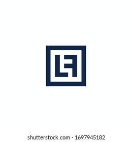 Initial letter lf logo or fl logo vector design template