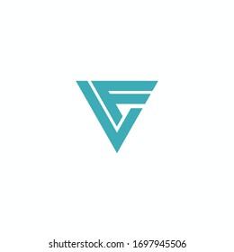 Initial letter lf logo or fl logo vector design templates