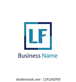 Initial Letter LF Logo Template Design