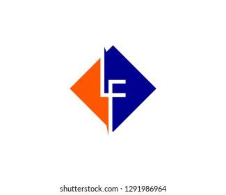 Initial Letter LF Logo Template Design