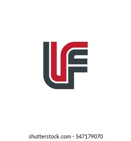Initial Letter IF LF UF Linked Design Logo