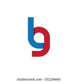 Initial Letter LG Design Logo Blue Red
