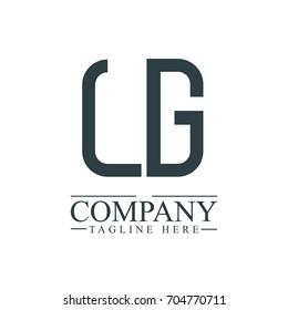 Initial Letter LG Linked Box Design Logo