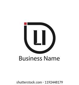 Initial Letter LI Logo Template Design