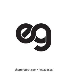 initial letter eg linked circle lowercase monogram logo black
