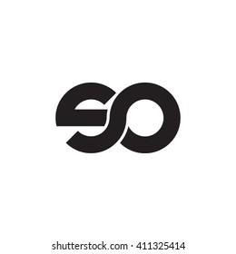 initial letter so linked round lowercase monogram logo black