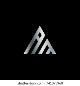 Initial Letter AM Linked Triangle Design Logo