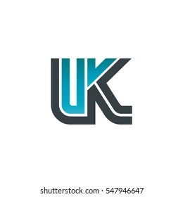 Initial Letter LK UK Linked Design Logo