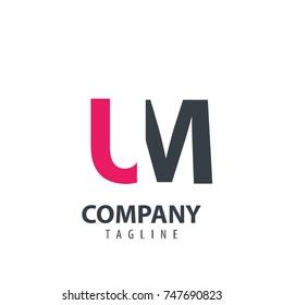 Initial Letter LM Design Logo