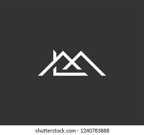 Initial Letter LM Home Logo Template Design