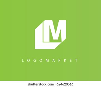 Initial Letter LM Logo Design Template Element