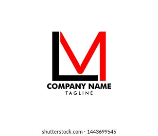 Initial Letter LM Logo Template Design