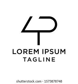 initial letter logo 4P, P4 logo template