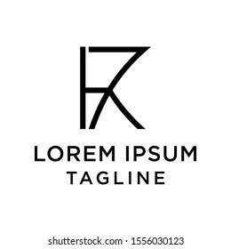 initial letter logo 7K, K7 logo template