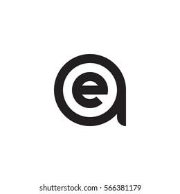 initial letter logo ae, ea, e inside a rounded lowercase black monogram