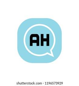 Initial Letter Logo AH Template Design
