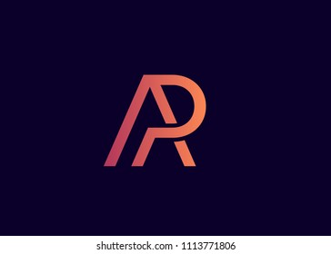 Initial letter logo AP, PA, logo template