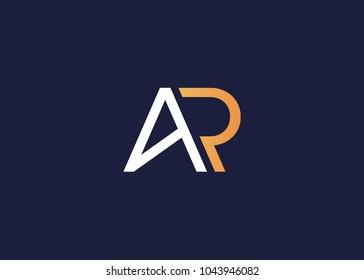initial letter logo ar, ra, logo template
