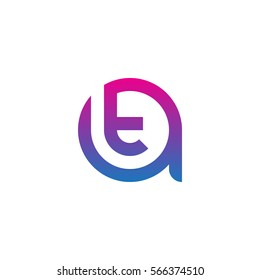 initial letter logo at, ta, t inside a rounded lowercase blue purple