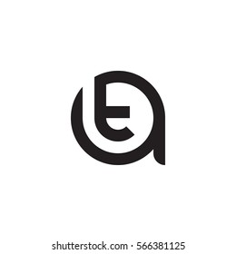initial letter logo at, ta, t inside a rounded lowercase black monogram