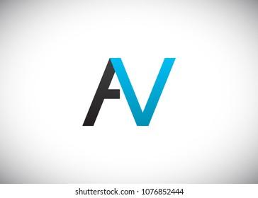 initial letter logo AV, VA, logo template