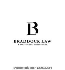 Initial letter logo B and L, BL LB monogram logo icon on white background