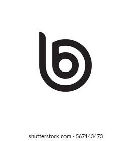 initial letter logo bb, b inside b rounded lowercase black monogram