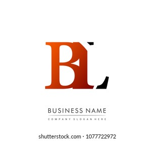 initial letter logo BL colored red and black, Vector logo design template elements for your business or company identity
