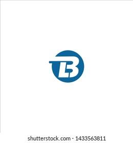 initial letter logo bl, lb, l inside b