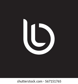 initial letter logo bl, lb, l inside b rounded lowercase white black background
