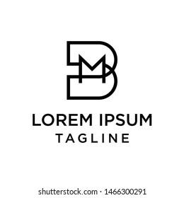 initial letter logo BM, MB logo template