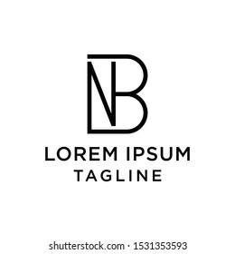 initial letter logo BN, NB logo template
