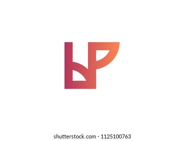 initial letter logo BP, PB, logo template