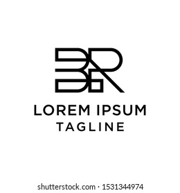 initial letter logo BR, RB logo template