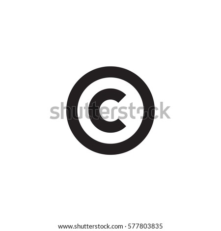 Initial Letter Logo C Inside Circle Stock Vector Royalty Free