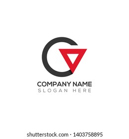 Initial letter logo c o co oc o inside c rounded uppercase white grey red background. Modern business logo design template for company.