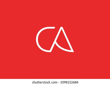initial letter logo CA, logo template