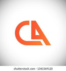 Initial letter logo CA, logo template