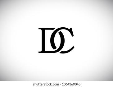 initial letter logo CD, DC, logo template