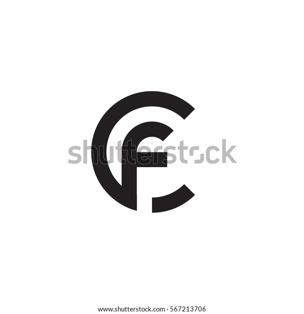 Abstract Letter Inside Circle Logo: Initial Letter Logo Cf Fc F Stock Vector (Royalty Free