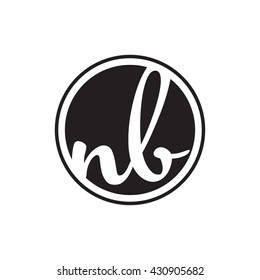 initial letter logo circle with ring nb
